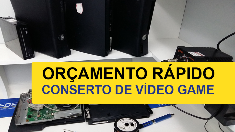 conserto video game - Conserto de Playstation em Santo André -